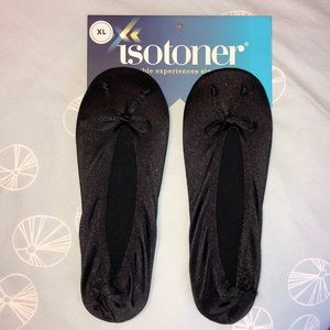 NWT Isotoner Satin Ballet slippers XL (9.5-10.5)
